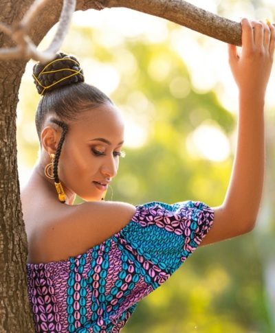 Doeks and Prints - Bombisani African Print Frill Crop Top