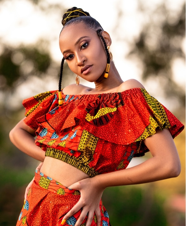 Doeks and Prints - Palesa African Print Frill Crop Top 1