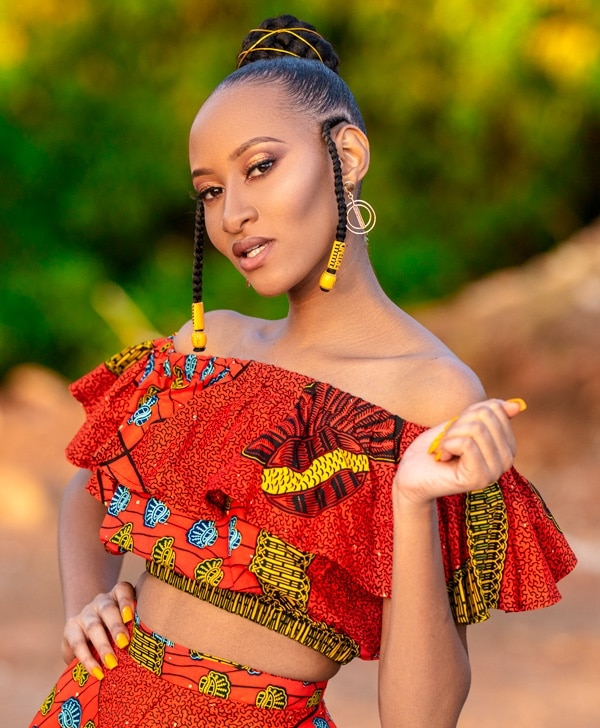 Doeks and Prints - Palesa African Print Frill Crop Top 2