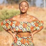 Doeks and Prints - Tshedi African Print Frill Crop Top