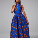 Shiluva African Print Maxi Dress